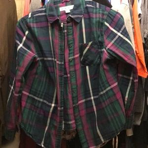 Ava & Viv plaid shirt sz x
